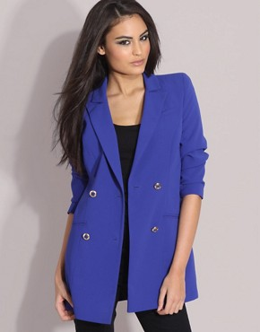 ASOS Double Breasted Long Line Blazer from asos.com