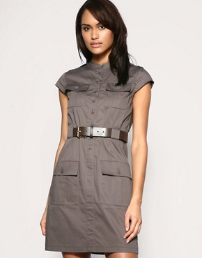 Kookai | Kookai Belted Military Shirt Dress at ASOS