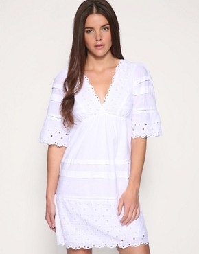 Oasis | Oasis Broderie Dress at ASOS :  memorial day oasis broderie dress white labor day
