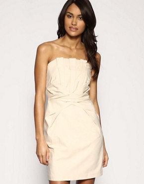 Oasis | Oasis Pleated Bandeau Dress at ASOS