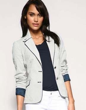 Mango  | Mango Ticking Stripe Jacket at ASOS