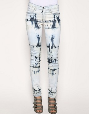 Dr Denim | Dr Denim Acid Bleached Snap High Waist Skinny Jeans at ASOS :  dr denim lrach asos jean