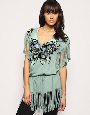 Oasis Butterfly Fringed Tee at ASOS :  chic butterfly trend boho