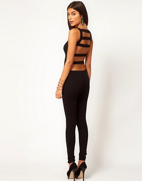 Slash Back Unitard at ASOS :  chic open back cutout one piece