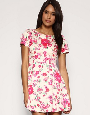 ASOS | ASOS Floral Skater Dress at ASOS :  mini dress sexy dress fashion dress womens clothing