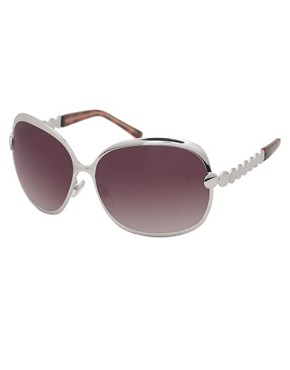 Karen Millen | Karen Millen Glamour Butterfly With Polished Disc Temples Sunglasses at ASOS :  8495 designer sunglasses overisze sunglasses womens sunglasses