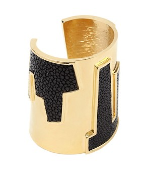 Kara Ross | Kara Ross Gold Cityscape Cuff at ASOS :  bracelet