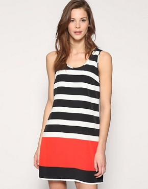 Vero Moda | Vero Moda Nautical Stripe Shift Dress at ASOS