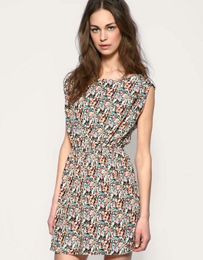 Blush | Blush Kaleidoscope Print Waisted Dress at ASOS