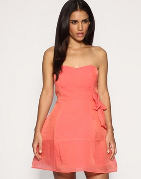 Rare | Rare Organza Bow Hoop Dress at ASOS