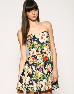 Motel | Motel Floral Bandeau Dress at ASOS