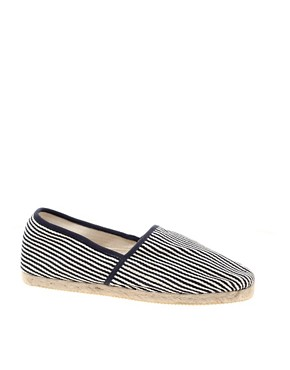 HE by Mango Fine Stripe Espadrille Sandals