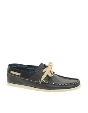 Bertie Lennox Washed Leather Deck Shoes