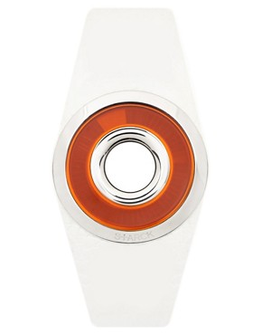 Philip Starck White Silicone Strap Watch