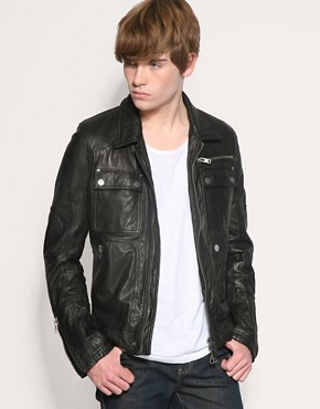 Full Circle Battle Biker Leather Jacket