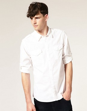 ASOS Utility Roll Up Sleeve Shirt