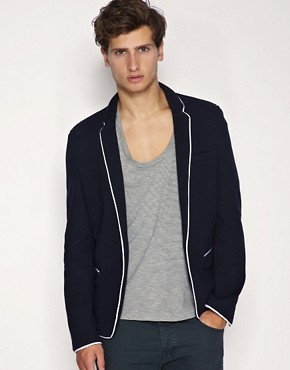 ASOS Piped Structured Jersey Blazer