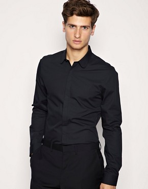 ASOS Curved Collar Slim Fit Shirt