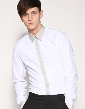 ASOS Tailoring Contrast Trim Slim Fit Shirt