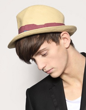 French Connection Straw Trilby Hat