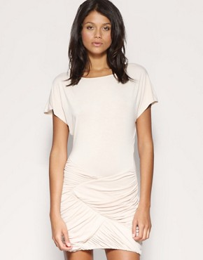 ASOS | ASOS Ruch Panelled Skirt Slouch Dress at ASOS :  white labor day memorial day asos ruch panelled skirt slouch dress