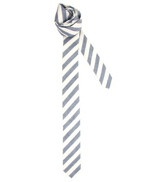 ASOS Two Colour Stripe Tie