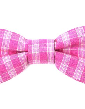 ASOS Pink Gingham Bow Tie