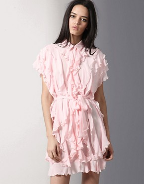 Unconditional Vertical Ruffle Detail Dress