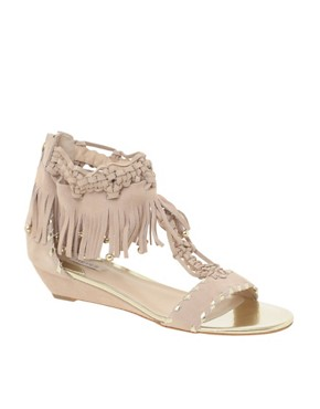 Reiss | Reiss Smyles Macrami And Fringed Mini Wedge at ASOS :  mini wedge macrami smyles