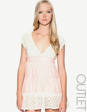 Yumi | Yumi Lace Detail Panel Dress at ASOS :  detail lace asos yumi