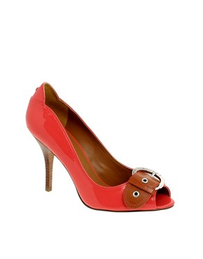 Guess Guess Peep Toe With Buckle Trim at ASOS from asos.com