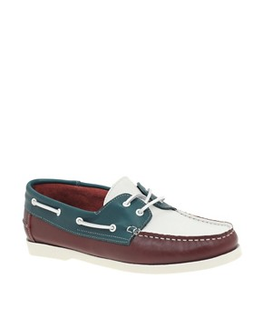 ASOS Tricolour Leather Deck Shoes