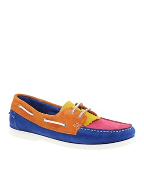 ASOS Tricolour Suede Deck Shoes