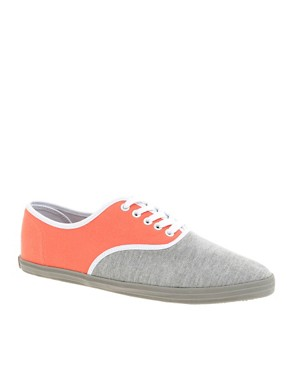 ASOS Colour Block Retro Plimsolls