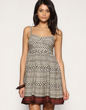 ASOS | ASOS Aztec Animal Print Sundress at ASOS :  mini dress animal print dress womens clothing strap dress