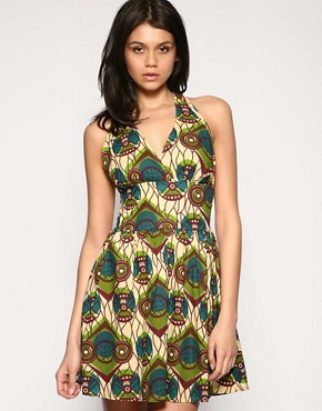 ASOS | ASOS African Print Halter Dress at ASOS
