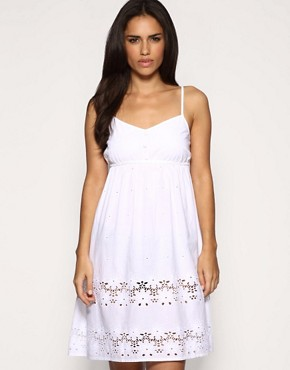 ASOS | ASOS Broderie Anglaise Strappy Sundress at ASOS
