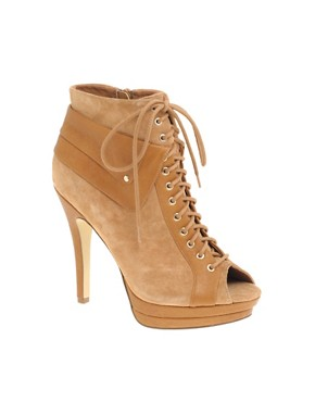 ASOS | ASOS TURNER Suede Lace Up Peep Toe Shoe Boot at ASOS
