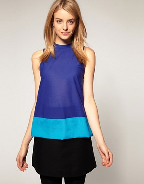 Image 1 of ASOS Swing Top with Color Block