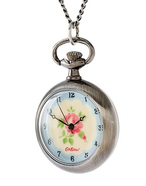 Cath Kidston - Silver Round Pocket Watch Pendant Necklace