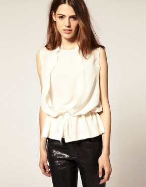 Image 1 of&nbsp;IRO Silk Blouse With Double Layer Lace Detail
