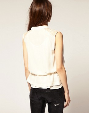 Image 2 of&nbsp;IRO Silk Blouse With Double Layer Lace Detail