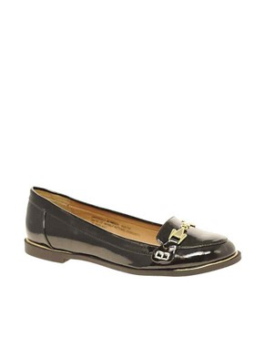 Image 1 of River Island Patent Buckle Loafers