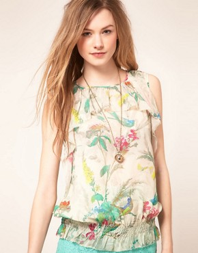 Image 1 of&#160;Ted Baker Top With Paradise Bird Print