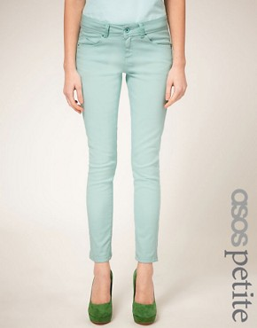 Image 1 of ASOS PETITE Exclusive Mint Green Skinny Jean #4