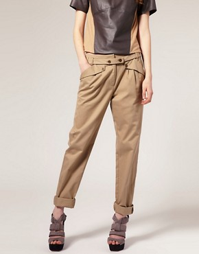 Image 4 ofASOS Extended Tab Belt Chino