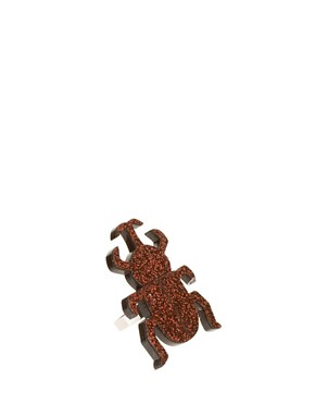 Image 1 of&#160;Limited Edition Adjustable Glitter Beetle Ring