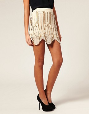 Image 4 ofASOS Flapper Embellished Miniskirt