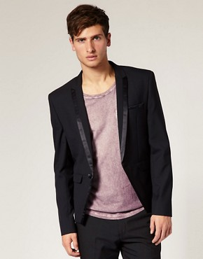 ASOS Slim Fit Cutaway Black Blazer