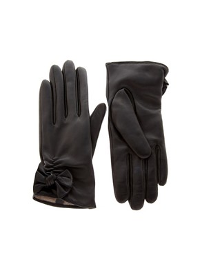 Image 1 of ASOS Leather Bow Gloves